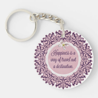Happiness Is a Way of Travel... Keychain
