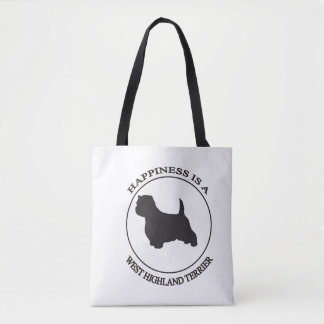 Happiness is a West Highland Terrier. Tote Bag