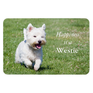 Happiness is a Westie custom photo magnet