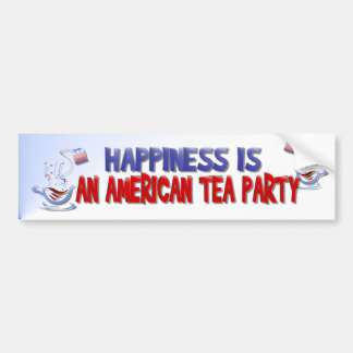 Happiness Is An American Tea Party Bumper Sticker