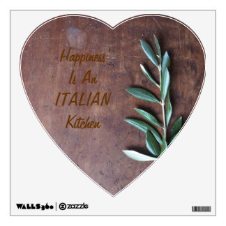 Happiness Is an Italian Kitchen Wall Decal