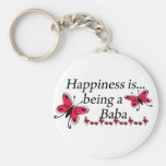 Happiness Is Being A Baba BUTTERFLY Key Chains
