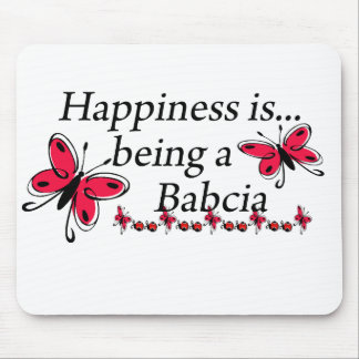 Happiness Is Being A Babcia BUTTERFLY Mouse Pad
