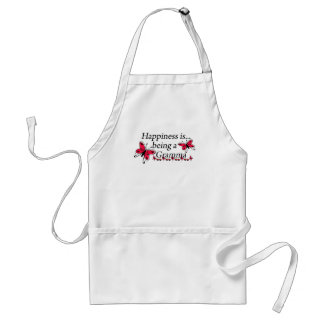 Happiness Is Being A Gramma BUTTERFLY Aprons