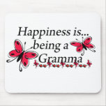 Happiness Is Being A Gramma BUTTERFLY Mouse Mat