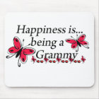 Happiness Is Being A Grammy BUTTERFLY Mouse Pad