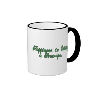 Happiness is being a Gramps Ringer Coffee Mug