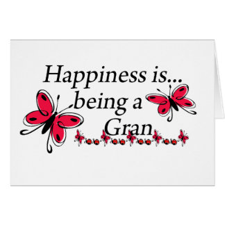 Happiness Is Being A Gran BUTTERFLY Cards