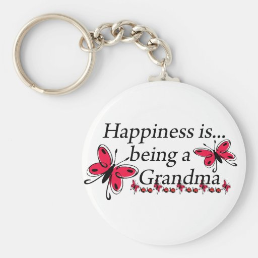 Happiness Is Being A Grandma BUTTERFLY Key Chains