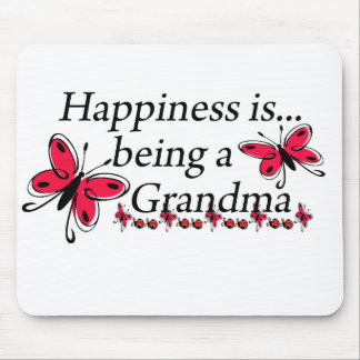 Happiness Is Being A Grandma BUTTERFLY Mouse Pad