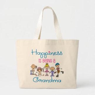 Happiness Is Being A Grandma Jumbo Tote Bag