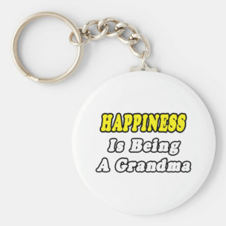 Happiness Is Being a Grandma Keychain