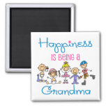 Happiness Is Being A Grandma Magnets