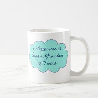 Happiness is Being a Grandma of Twins Coffee Mugs