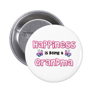 Happiness Is Being A Grandma Pinback Button