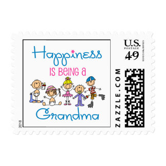 Happiness Is Being A Grandma Postage Stamp