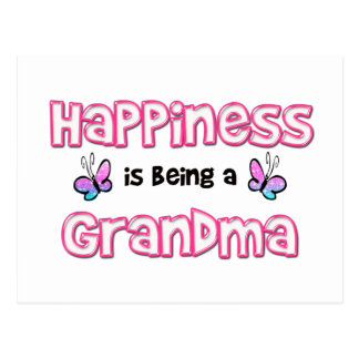 Happiness Is Being A Grandma Postcard