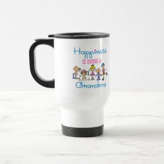 Happiness Is Being A Grandma Travel Mug