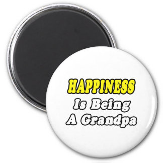 Happiness Is Being a Grandpa 2 Inch Round Magnet
