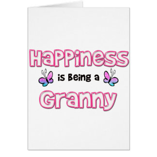 Happiness Is Being A Granny Greeting Card