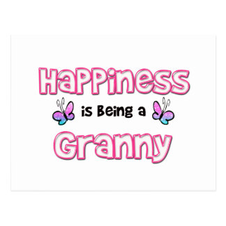 Happiness Is Being A Granny Postcard
