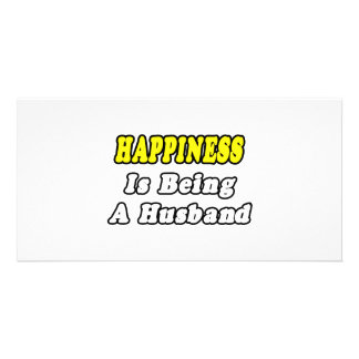 Happiness Is Being a Husband Personalized Photo Card