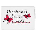 Happiness Is Being A Lola BUTTERFLY Card
