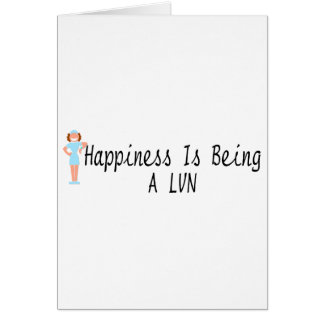Happiness Is Being A LVN Card