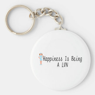 Happiness Is Being A LVN Basic Round Button Keychain