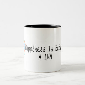Happiness Is Being A LVN Two-Tone Coffee Mug