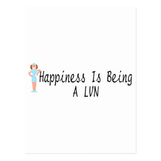 Happiness Is Being A LVN Postcard