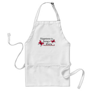 Happiness Is Being A Mema BUTTERFLY Adult Apron