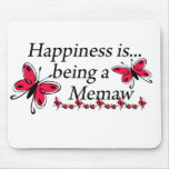 Happiness Is Being A Memaw BUTTERFLY Mouse Pad