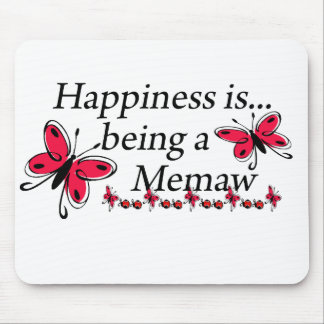 Happiness Is Being A Memaw BUTTERFLY Mouse Mats
