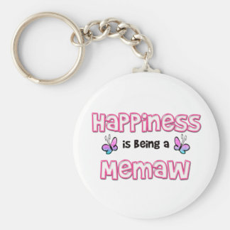 Happiness Is Being A Memaw Keychain