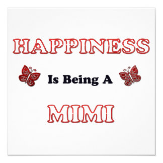 Happiness Is Being A Mimi Card