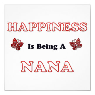 Happiness Is Being A Nana Card