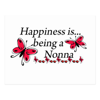 Happiness Is Being A Nonna BUTTERFLY Postcard