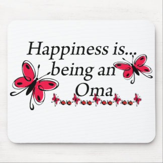 Happiness Is Being A Oma BUTTERFLY Mouse Pad