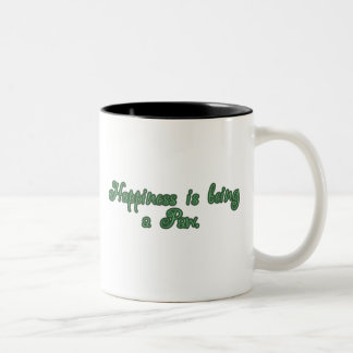 Happiness is being a Paw Two-Tone Coffee Mug