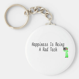 Happiness Is Being A Rad Tech Basic Round Button Keychain