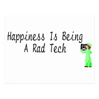 Happiness Is Being A Rad Tech Postcard