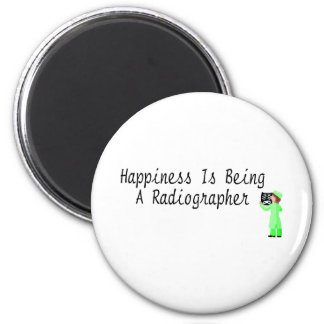 Happiness Is Being A Radiographer 2 Inch Round Magnet