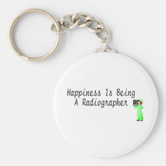 Happiness Is Being A Radiographer Basic Round Button Keychain