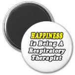 Happiness Is Being a Respiratory Therapist Fridge Magnets