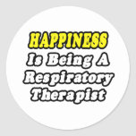 Happiness Is Being a Respiratory Therapist Stickers