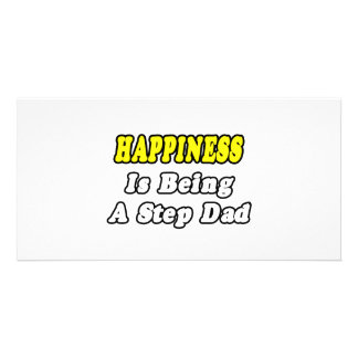 Happiness Is Being a Step-Dad Personalized Photo Card