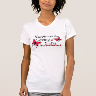 Happiness Is Being A YiaYia BUTTERFLY T-Shirt