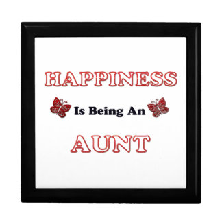 Happiness Is Being An Aunt Keepsake Box