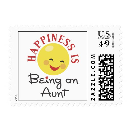 Happiness Is Being An Aunt Stamp
